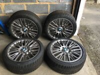 Genuine BMW Winter Wheel Set for 1 Series - Radial Spoke 288 Ferric Grey (RUN FLATS)