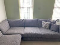 Large DFS corner sofa and chair