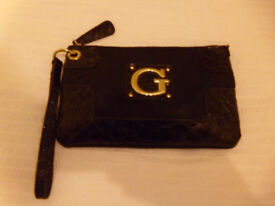 Women's Black Guess Clutch Bag
