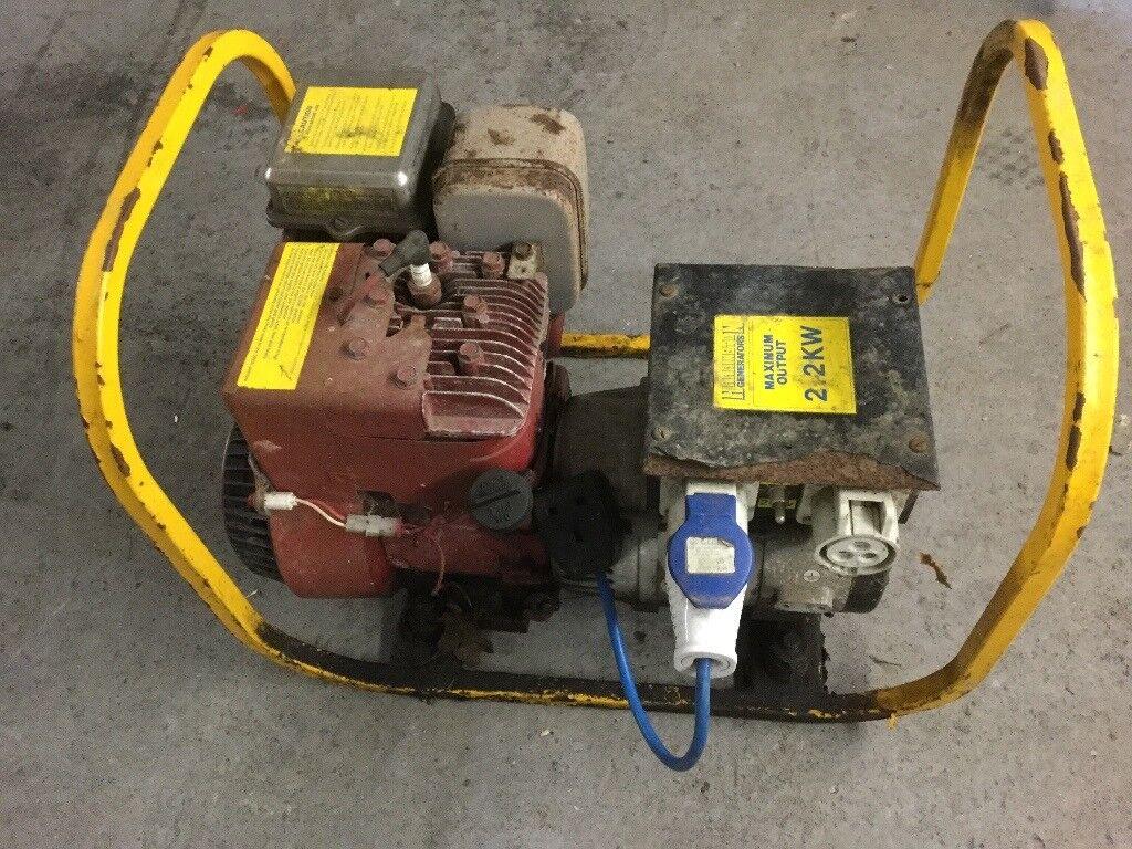 2.2 kw petrol Generator 240 or 110 volt