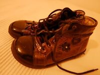 girls patent leather bronze boots from pepino, size 26, never worn