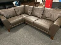 NEW - EX DISPLAY DFS HOPKIN BROWN LEATHER CORNER SOFA SOFAS, 70% Off RRP