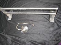 IKEA Gruntal Stainless Steel Towel Rail and Toilet Roll Holder