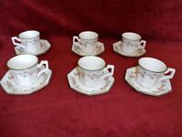 Johnson Brothers Eternal Beau 6 x Espresso cup and saucers Superb Condition
