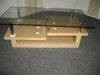 Modern design large wood/glass coffee table furniture