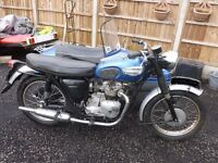 Triumph tiger 90 350 twin fitted with single seater sidecar