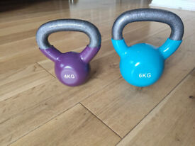 Kettlebells 6kg & 4kg Free Weights Very Good Condition