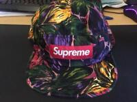 Supreme Painted Floral Camp cap