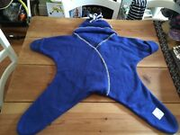 Tuppence & crumble star wrap / starsnug size M Blue - alternative to pramsuit or snowsuit