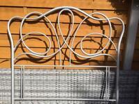 Double Bed - Tubular Metal Headboard - New / Unused