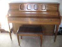 Kimball piano for sale with bench