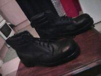 metal steel toecap boots size 8