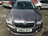 2010 SKODA SUPERB ELEGANCE TDICR S-A 2.0L ESTATE AUTO NAVIGATING ONE YEAR MOT 2 OWNER FROM NEW