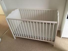 Ikea hensvik cot with waterproof mattress