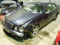 1999 Mercedes CLK 320 coupe Blue W208 BREAKING FOR PARTS ASPARES