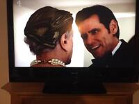 """49"""" Baird full HD LCD tv with HD freeview remote hdmi's and a brand new wall bracket"""