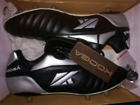 Rugby Boots Black and Silver Adults Size 15