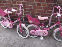Kids Princess Bikes - Raleigh Sunbeam age 3-5