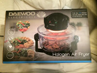 Daewoo 2 in 1 Deluxe Glass Air Fryer Deep Fat Free Frying Healthy Cooker - NEW & NEVER USED