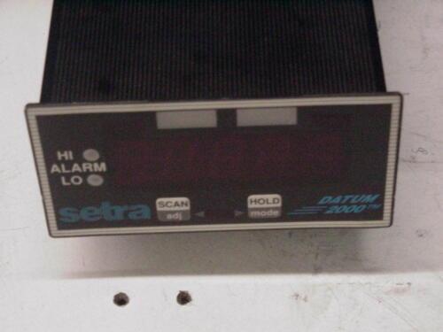 Setra Datum 2000 Manometer Chanel Monitor  Transducer Transmitter