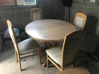 Table and chairs/ side board