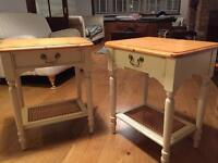 Pair of Laura Ashley side tables lovely ivory bedside tables