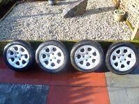 Citroen Saxo 'VTR' Alloy Wheels with Michelin Tyres 4 stud suit Peugeot etc