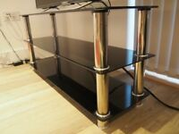 Premier AV LT04 Slim Compact Glass TV stand for 49 inch LED/LCD TV