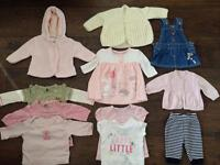 Baby girls clothes- up to a month