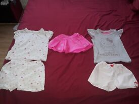 Girls pyjamas bundle with an extra skirt size 3-4 years
