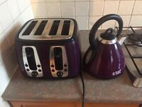 Morphy Richards kettle and toaster