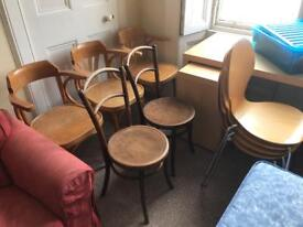 Lots of wooden chairs for sale