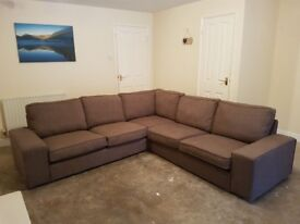 IKEA KIVIK corner sofa - brown. Excellent condition - just won't fit in new house!
