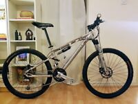 a6bc9f219 Pinnacle Tharpu Peak Full Suspension Mountain Bike 27 Speed Deore size S -  Serviced