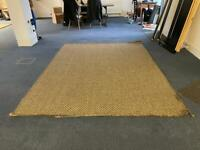 Large thick weave hessian rug