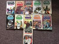 Collection of 11 Old Doctor Who Paperback Books by Target