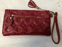 Louis Vuitton style clutch purse red new