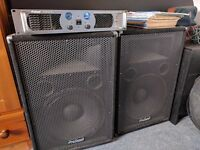 Pro Sound 1600 amp and 500w speakers