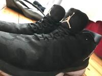 Jordan's high top basketball trainers size 10