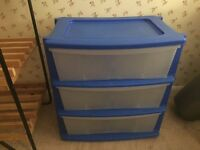 FREE - blue plastic storage unit