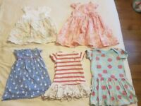 Bundle of 5x girls dresses aged 6-9 months, including Ralph Lauren and John Lewis