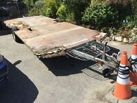 Braked Trailer. Caravan Base. Everything Works Perfectly. Tows Effortlessly. Great Base For Project.