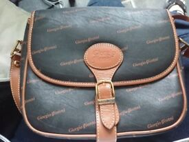 SMALL BLACK BAG VERY SOFT LEATHER FEEL TO IT £10