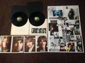 The Beatles LP White Double Album 1968 with original poster and photos will post
