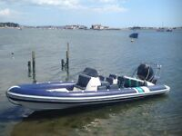Cobra 7.5meter Rib Very Good Condition, Verado 200hp 4 Stroke outboard, 4 wheel Trailer.