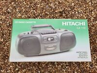 Hitachi CX-110 CD Radio Cassette
