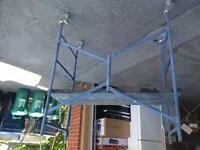 4 foot scaffolding with wheels $125.00