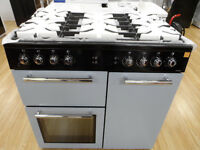 Leisure AL90F230B 90cm 5 Burner Dual Fuel Range Cooker - Blue