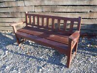Garden Bench seat (strong hardwood).