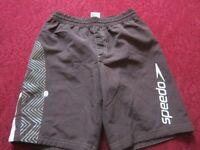 Mens speedo shorts brown size m